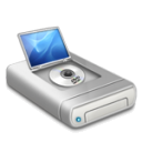 DVD drive alternative dark icon