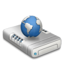 Network drive dark icon