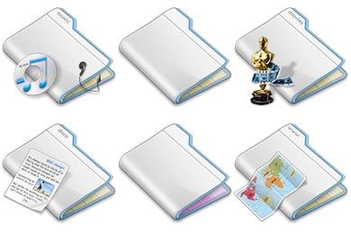 Layered Folders Icons