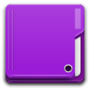 Places folder violet icon