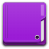 Places-folder-violet icon