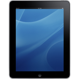 iPad Front Blue Background icon