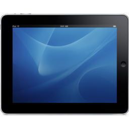 iPad Landscape Blue Background icon
