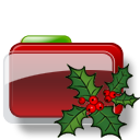 Christmas Folder Holly icon