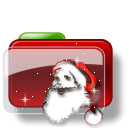 Christmas Folder Santa icon