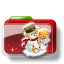 Christmas Folder Snowman icon