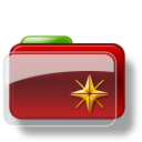 Christmas-Folder-Star icon