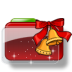 Christmas-Folder-Bells-Stars icon
