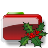 Christmas-Folder-Holly icon