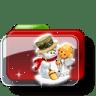 Christmas-Folder-Snowman icon
