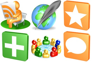 3D Social Icons