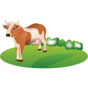 Feeding-cattle icon