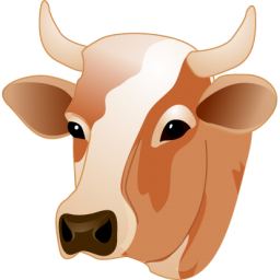 Cow head Icon | Agriculture Iconset | Aha-Soft