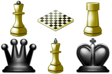 Black queen 2d Icon | Chess Iconset | Aha-Soft