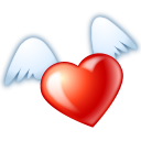 Flying-heart icon