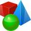 3D objects icon