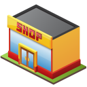 Retail shop icon
