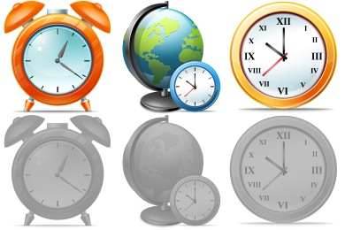 Large Time Icons