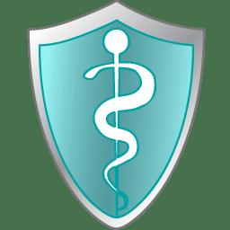 Health care shield icon
