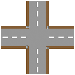 crossroad plain icon