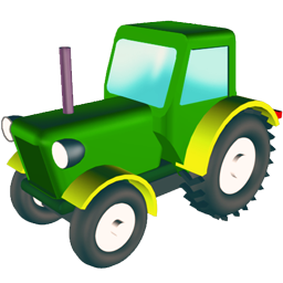 wheeled tractor icon