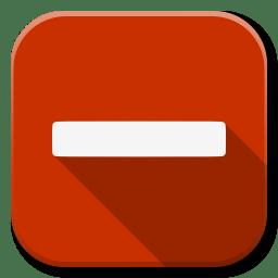 Apps Dialog Remove icon