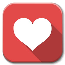 apps favorite heart icon flatwoken iconset alecive