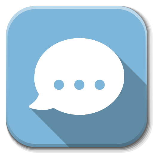 Apps Chat Icon | Flatwoken Iconset | alecive: www.iconarchive.com/show/flatwoken-icons-by-alecive/Apps-chat-icon...