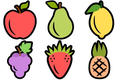 Fresh Fruit Icons