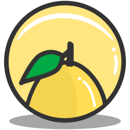 Button lemon icon