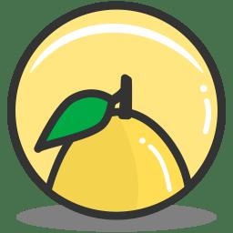 Button lemon icon