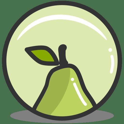 Button pear icon