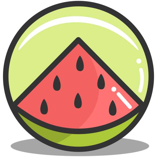 Button watermelon icon