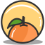 Button orange icon