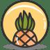 Button-pineapple icon