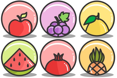 Splash Of Fruit Icons