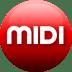 MIDI-red icon