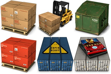 Container 2 Icons