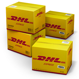 DHL Shipping Box icon