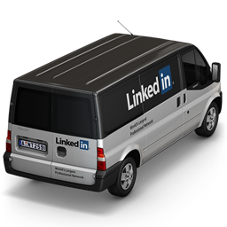 Linkedin Van Back icon