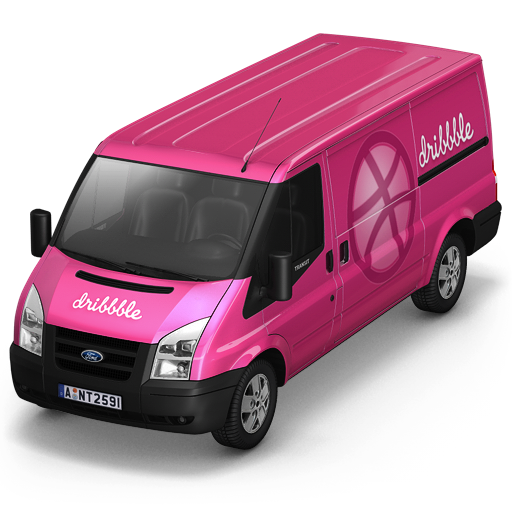 Dribbble Van Front icon