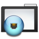 Folder Dark Network icon