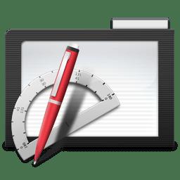 Folder Dark Apps icon
