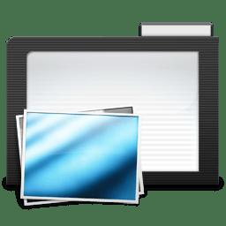 Folder Dark Images icon