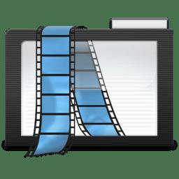 Folder Dark Videos icon