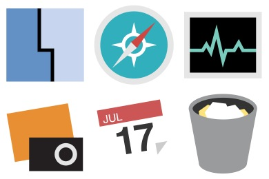 Simplified App Icons