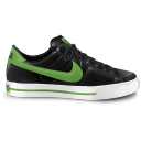 Nike classic shoe green icon