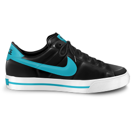 nike classic shoe blue icon