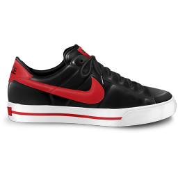 nike classic shoe red icon