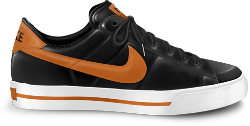 Nike classic shoe orange icon